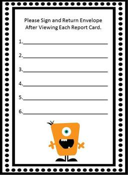 Report Card Envelope
