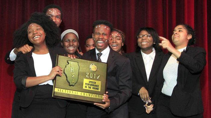 Southland College Prep Takes Top Honors in IHSA South Suburban Speech Sectional.